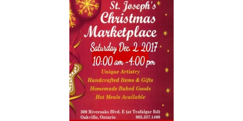 December 2, 2017 Christmas Marketplace at  St. Joseph's Ukrainian Catholic Church