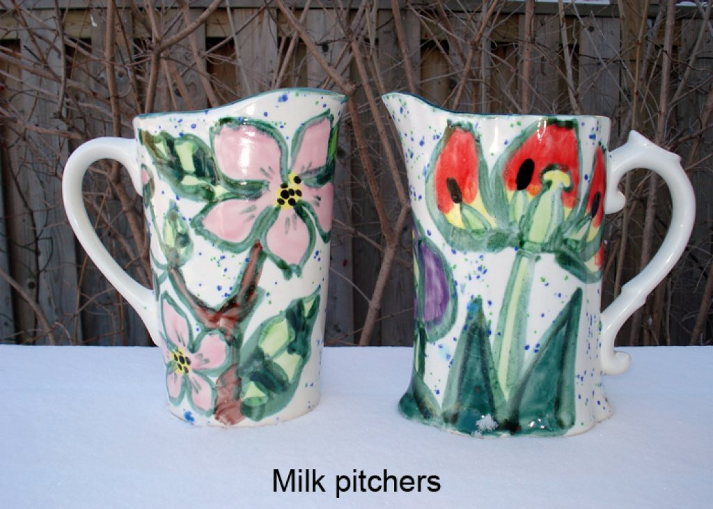 Milk Pitcher Apple Blossom & Tulip