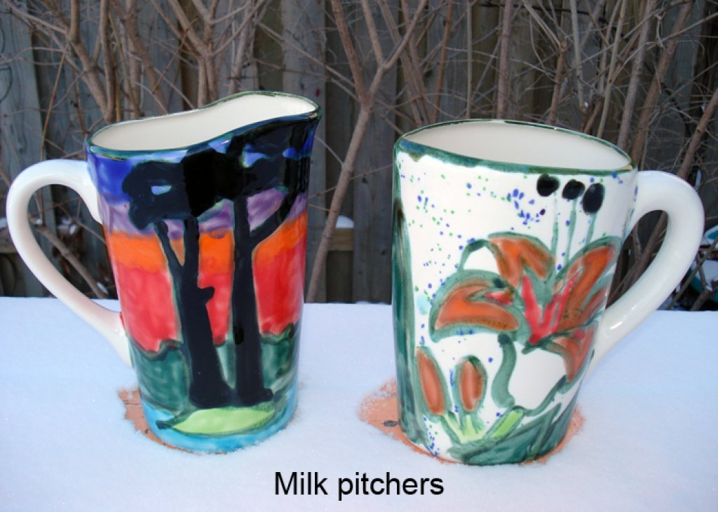 Milk Pitcher Sunset Orange Lily