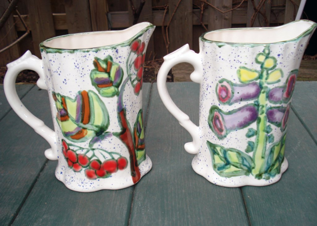 Milk Pitcher Kalyna & Foxglove