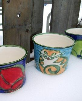 Flowerpots Cat Red Frog