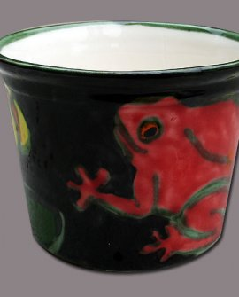 Flowerpot Red Frog