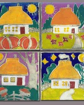 Ukrainian Village House Tiles