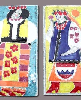 Ukrainian Girl Tiles
