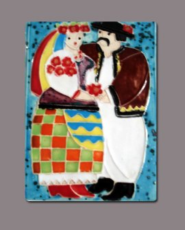 Ukrainian Couple Tiles